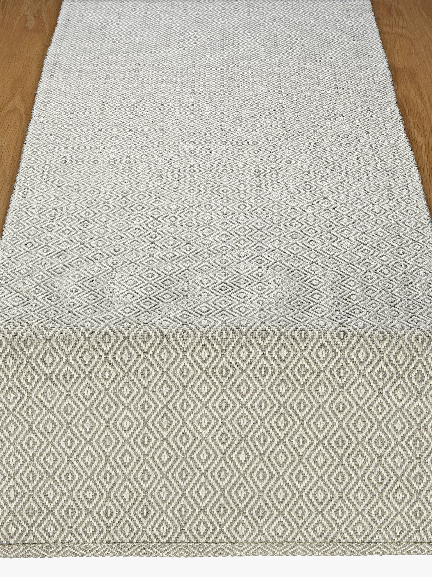 BuyJohn Lewis & Partners Fusion Table Runner, Putty/White Online at johnlewis.com