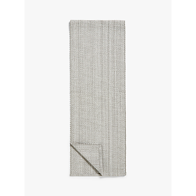 Croft Collection Tetbury Table Runner, Grey, L180cm