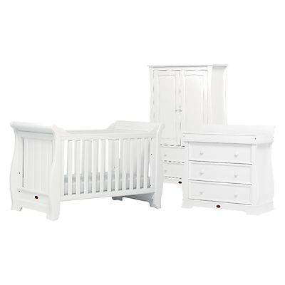 Boori Sleigh Cotbed, Wardrobe and Dresser Furniture Collection, White