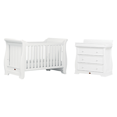 Boori Sleigh Cotbed and Dresser Furniture Collection, White