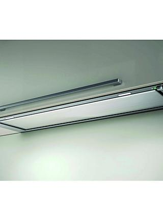 Elica Hidden Integrated Cooker Hood, Stainless Steel/White Glass, D Energy Rating