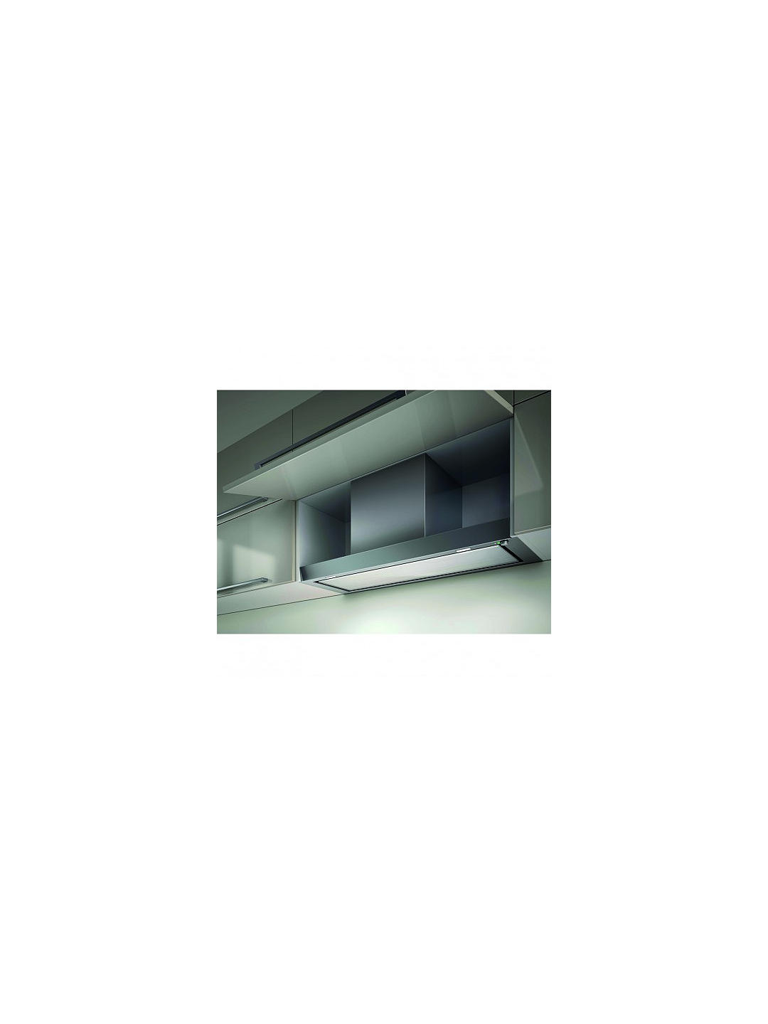 Buy Elica Hidden Integrated Cooker Hood, Stainless Steel/White Glass, D Energy Rating Online at johnlewis.com