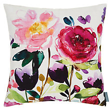 Buy bluebellgray Red Rose Cushion, Multi Online at johnlewis.com
