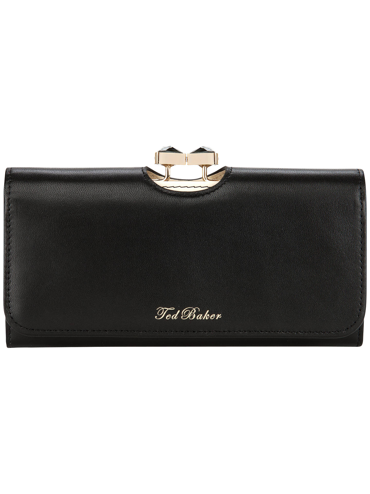 630145c9f Ted Baker Caleena Jewelled Bow Leather Matinee Purse at John Lewis ...