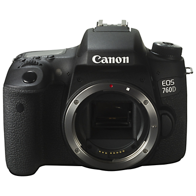 Image of Canon EOS 760D Digital SLR Camera, HD 1080p, 24MP, NFC, Wi-Fi, 3 LCD Screen, Body Only