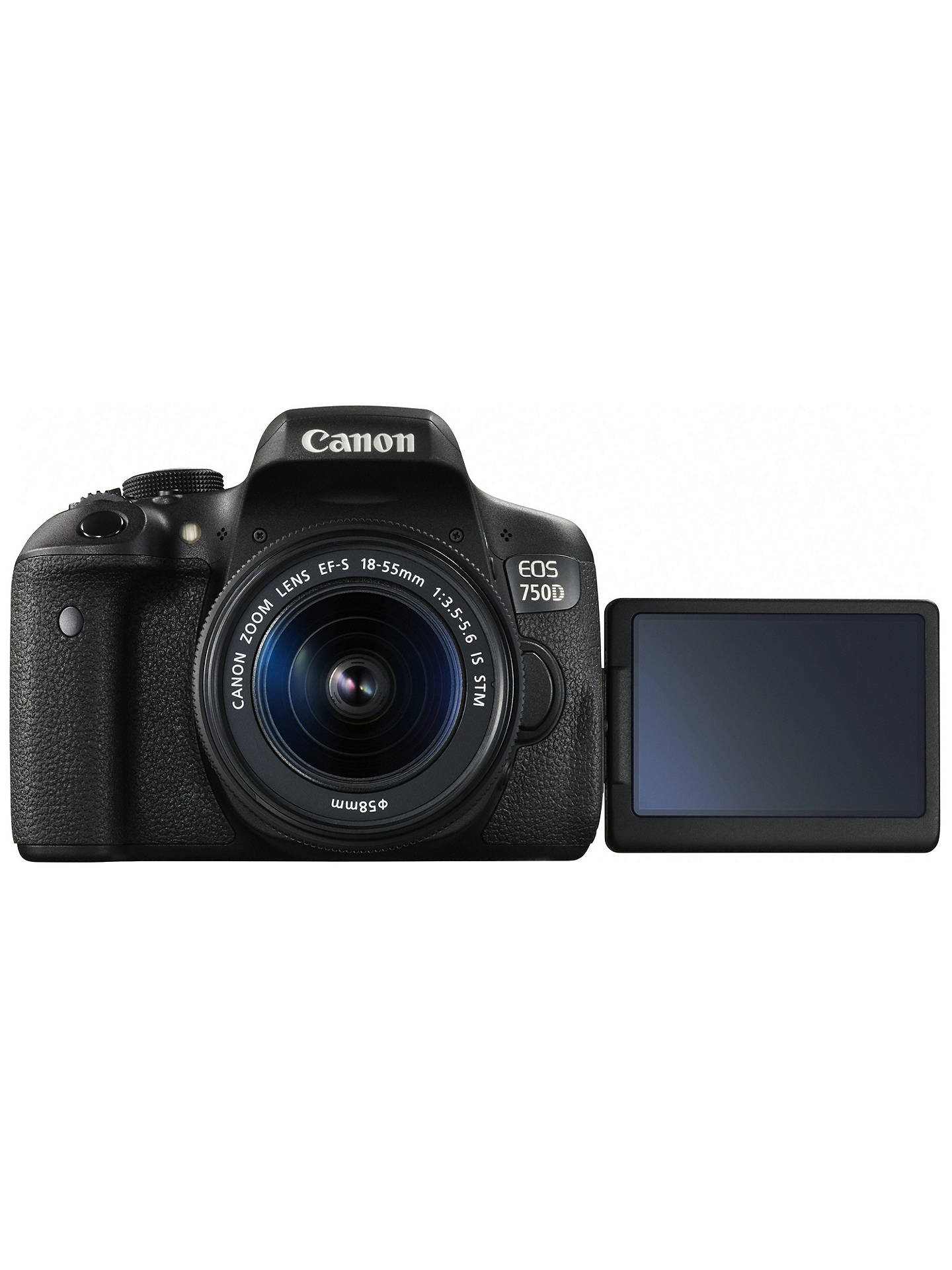 Canon EOS 750D Digital SLR with 18-55mm IS STM Lens, HD 1080p, 24 2MP,  Wi-Fi, NFC, 3 0