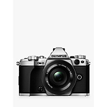 "Buy Olympus OM-D E-M5 Mark II Compact System Camera, HD 1080p, 16MP, Wi-Fi, 3"" LCD Touch Screen with M.ZUIKO DIGITAL 14-42mm EZ Lens Online at johnlewis.com"