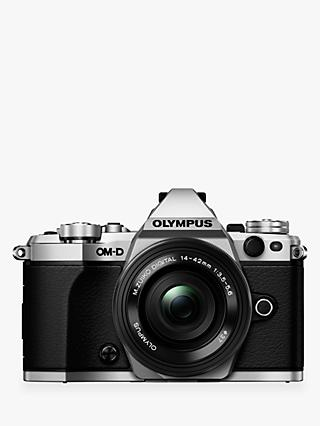 "Olympus OM-D E-M5 Mark II Compact System Camera, HD 1080p, 16MP, Wi-Fi, 3"" LCD Touch Screen with M.ZUIKO DIGITAL 14-42mm EZ Lens"