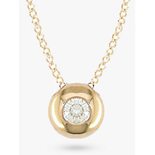 Buy EWA 9ct Yellow Gold Solitaire Diamond Slide Pendant, Gold Online at johnlewis.com