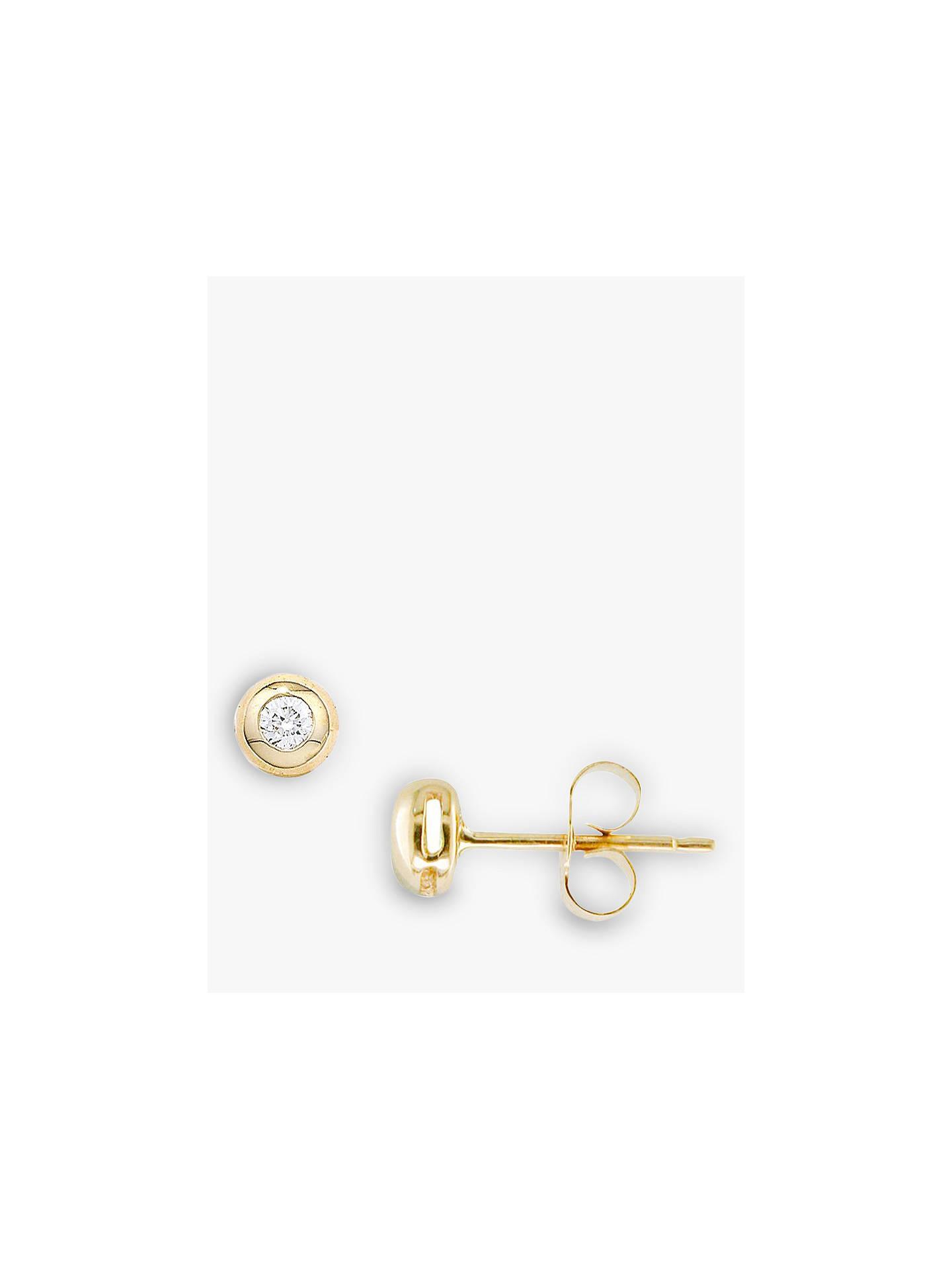 260d20d83 Buy E.W Adams 9ct Yellow Gold Single Stone Diamond Stud Earrings, Gold  Online at johnlewis ...