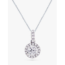 Buy EWA 18ct White Gold Diamond Claw Set Cluster Pendant Necklace, White Gold Online at johnlewis.com