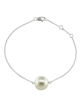 London Road 9ct White Gold Burlington Pearl Bracelet