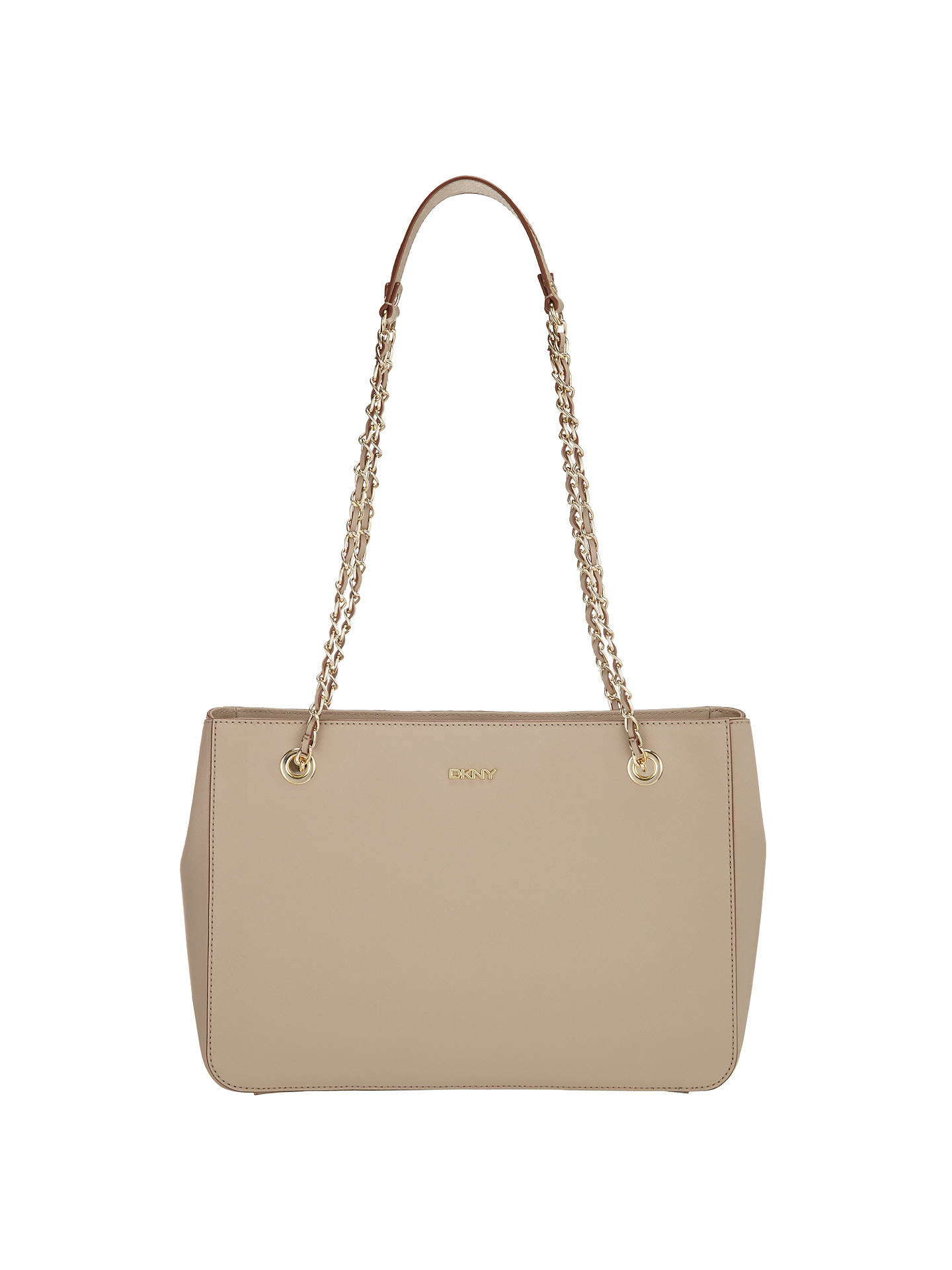 726043dd6 Buy DKNY Bryant Park Saffiano Leather Shopper Chain Bag, Cement Online at  johnlewis.com ...