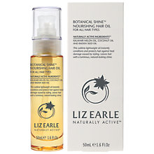 Buy Liz Earle Botanical Hair Shine Oil, 50ml Online at johnlewis.com