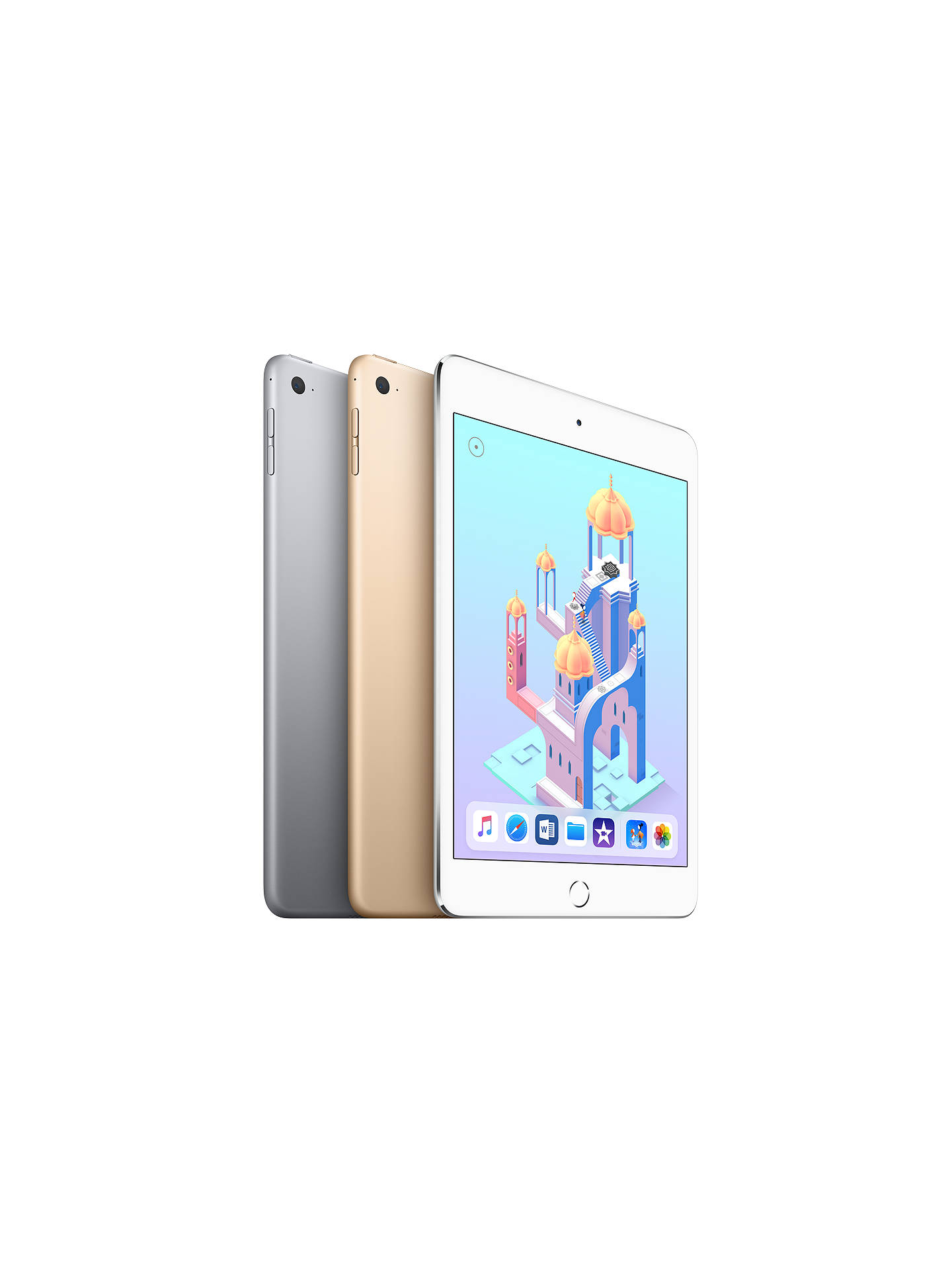 "BuyApple iPad mini 4, Apple A8, iOS, 7.9"", Wi-Fi, 128GB, Space Grey Online at johnlewis.com"