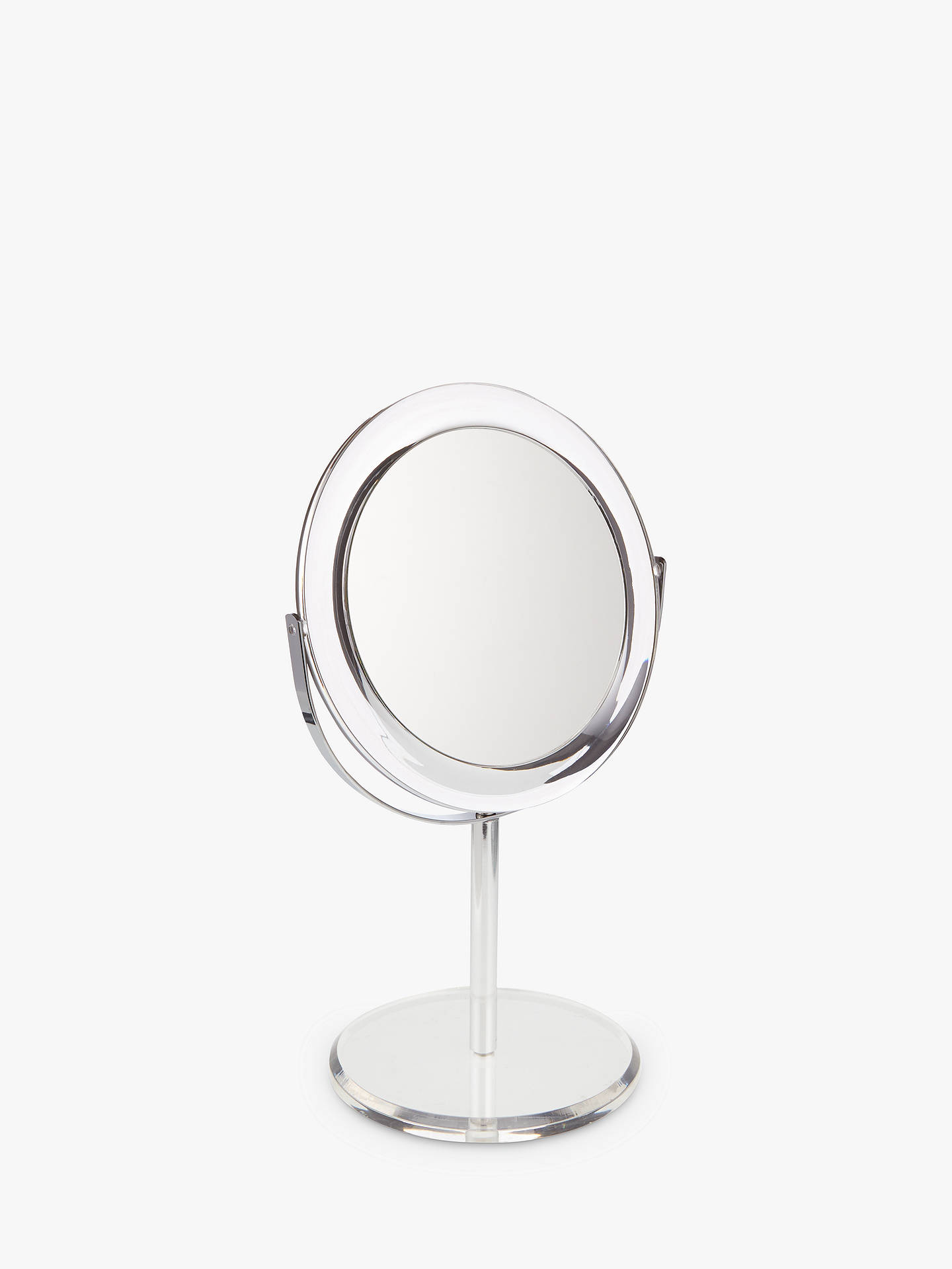 BuyJohn Lewis & Partners Clear Round Acrylic 3 x Magnifying Mirror Online at johnlewis.com