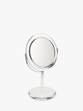 John Lewis & Partners Clear Round Acrylic 3 x Magnifying Mirror
