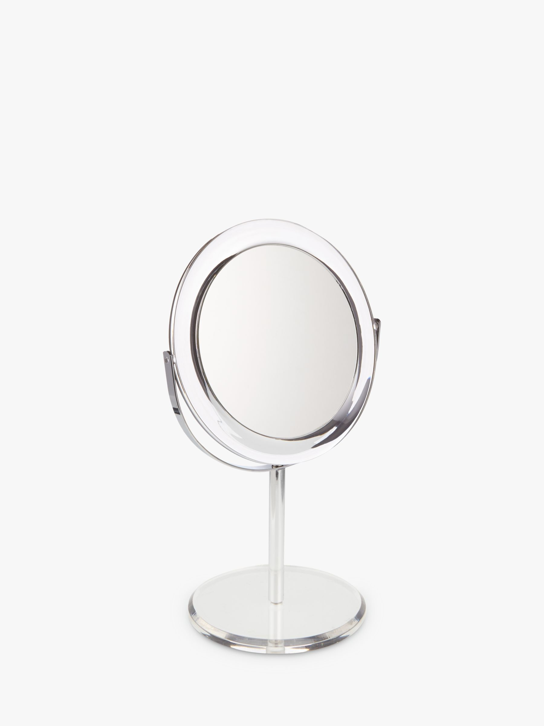 ANYDAY John Lewis & Partners Clear Round Acrylic 3 x Magnifying Mirror
