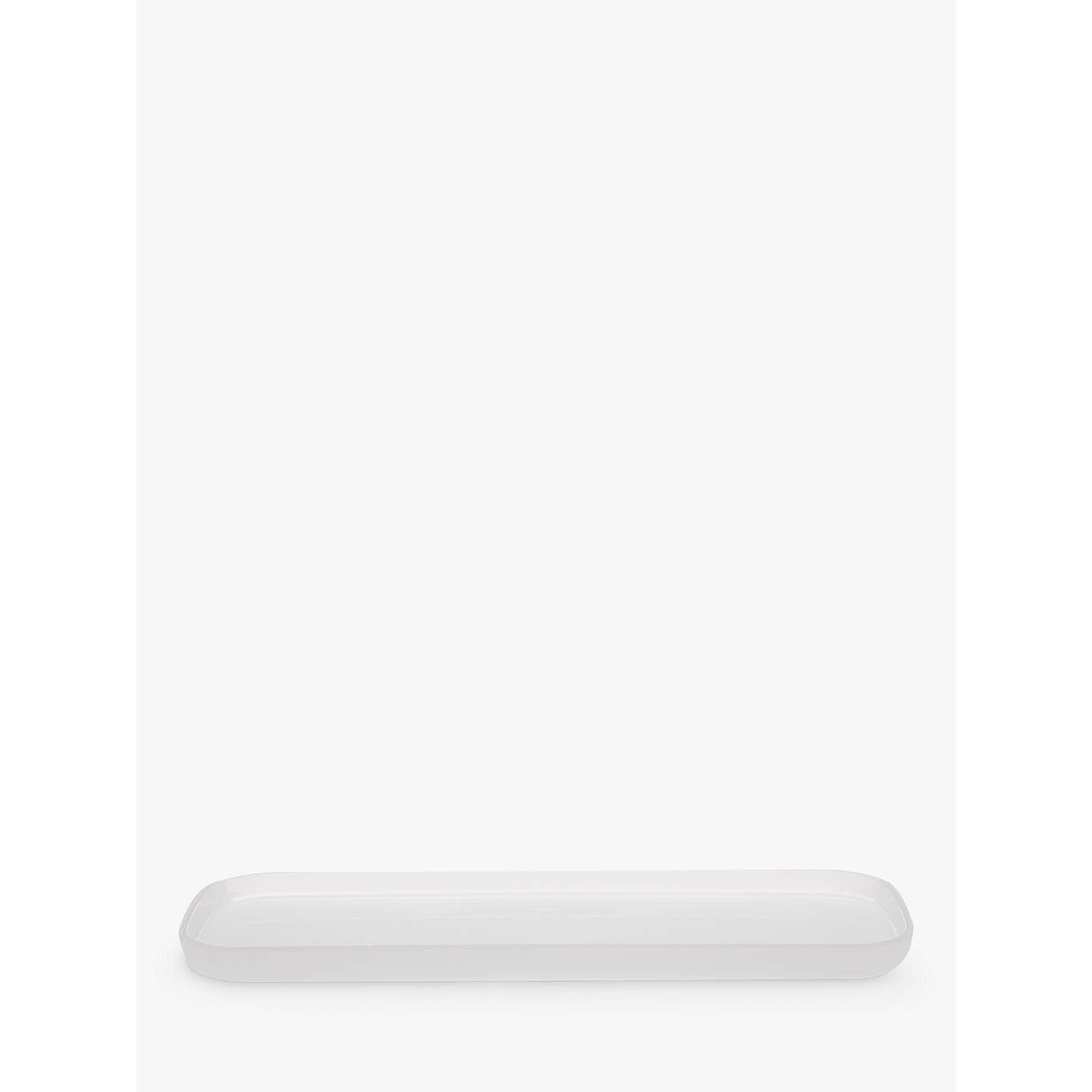 House By John Lewis Cubi Bathroom Tray White Online At Johnlewis