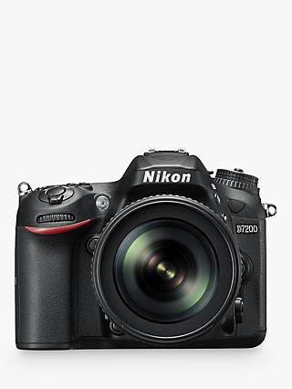 "Nikon D7200 DSLR Camera with 18-105mm VR Lens, 24.2 MP, HD 1080p, Built-in Wi-Fi, NFC, 3"" LCD Screen"