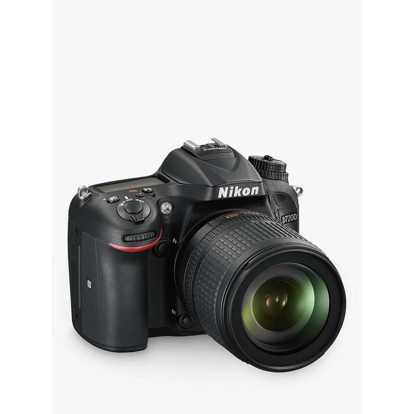 "BuyNikon D7200 DSLR Camera with 18-105mm VR Lens, 24.2 MP, HD 1080p, Built-in Wi-Fi, NFC, 3"" LCD Screen Online at johnlewis.com"