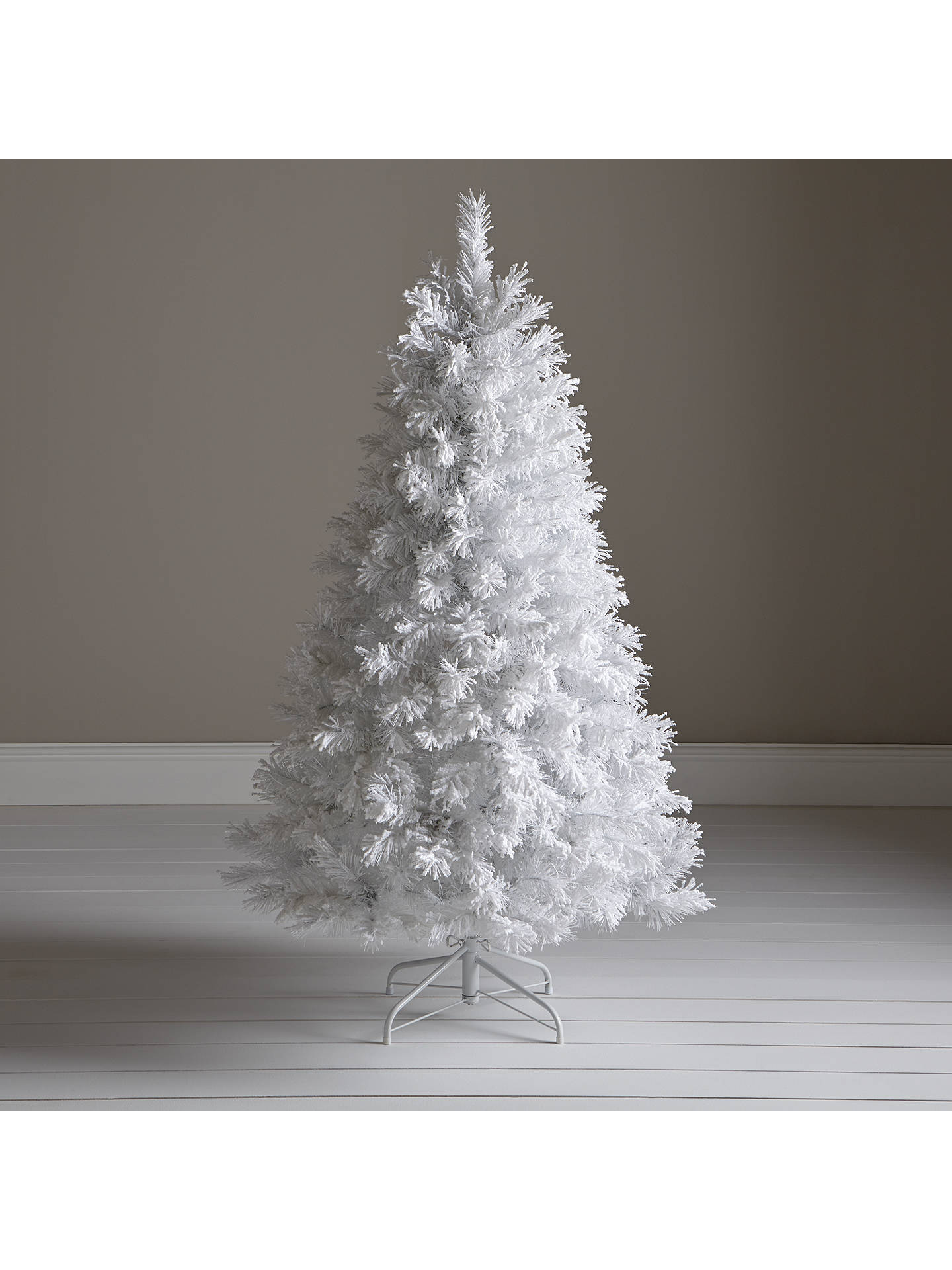 John Lewis Pre Lit White Flock Christmas Tree 5ft At John Lewis
