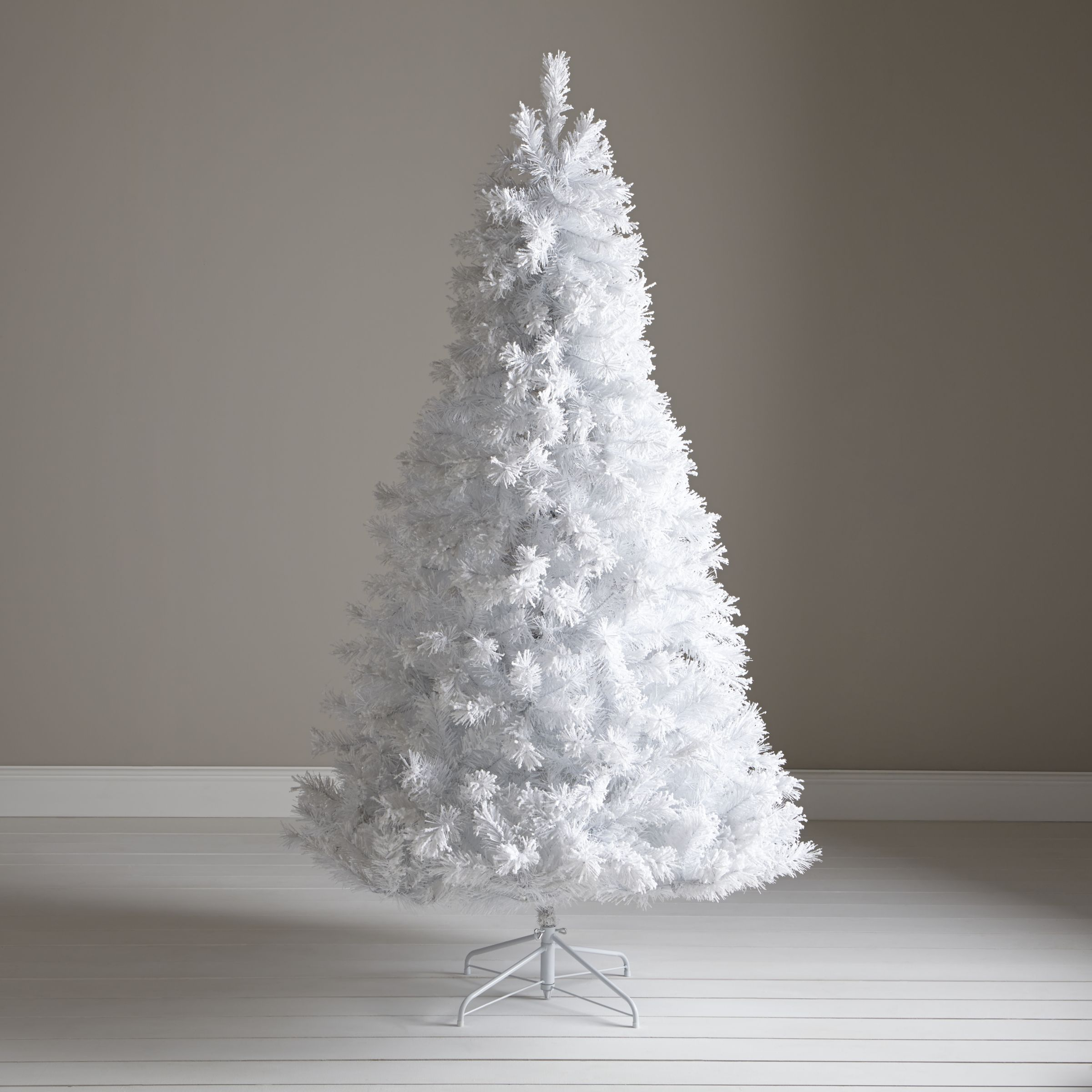 John Lewis Pre Lit White Flock Christmas Tree 7ft At John Lewis Partners
