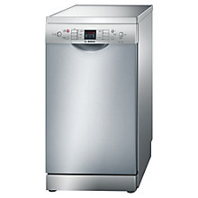 Buy Bosch SPS53M08GB Freestanding Dishwasher, Silver Innox Online at johnlewis.com