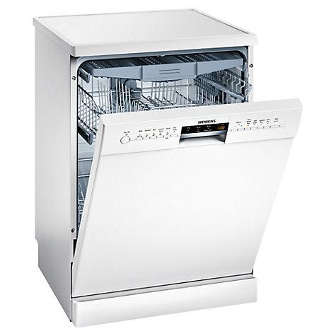 buy siemens sn26m280gb freestanding dishwasher white john lewis. Black Bedroom Furniture Sets. Home Design Ideas