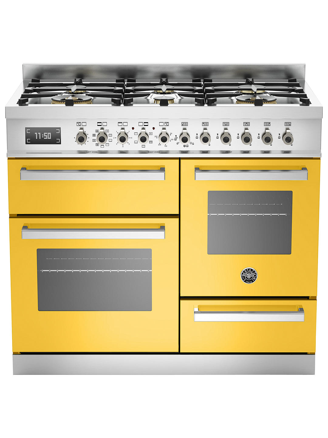 Buy Bertazzoni Professional Series Dual Fuel Range Cooker, Yellow Online at johnlewis.com