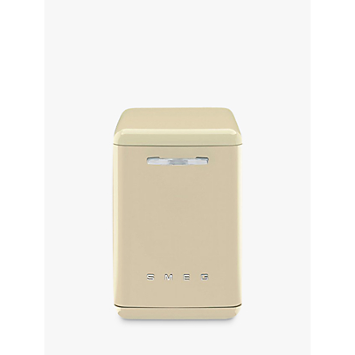 Image of Smeg DF6FABCR Retro Freestanding Dishwasher, Cream