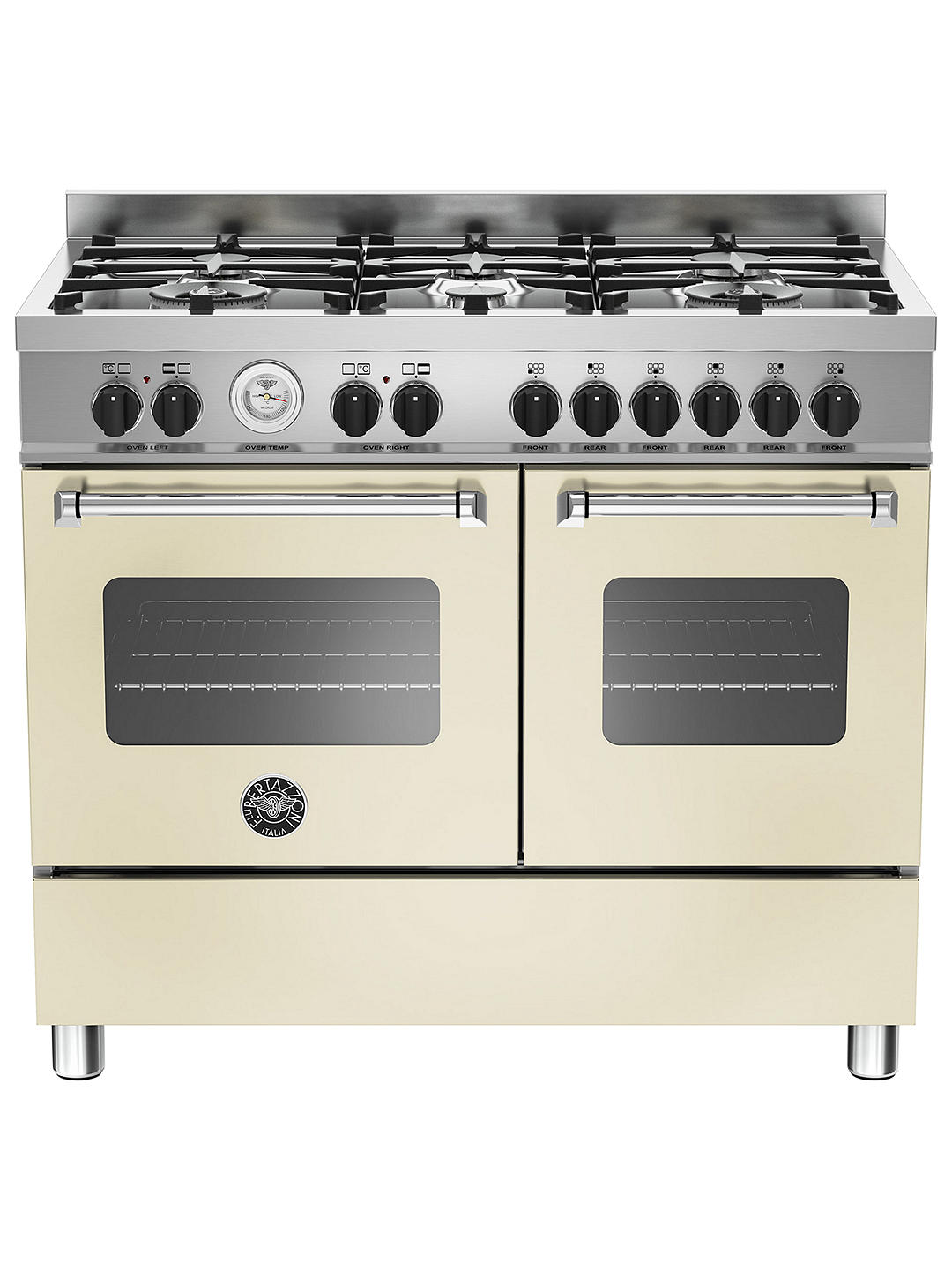 Buy Bertazzoni Master Series Twin Dual Fuel Range Cooker, Matt Cream Online at johnlewis.com