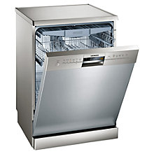 Buy Siemens SN26M880GB Freestanding Dishwasher, Stainless Steel Online at johnlewis.com