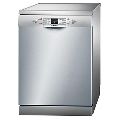 Bosch SMS50M18GB Freestanding Dishwasher, Silver Innox