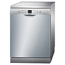 Buy Bosch SMS50M18GB Freestanding Dishwasher, Silver Innox Online at johnlewis.com