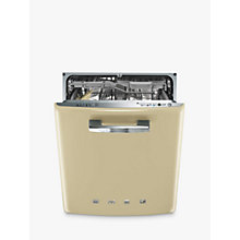 Buy Smeg DI6FABCR Retro Integrated Dishwasher, Cream Online at johnlewis.com