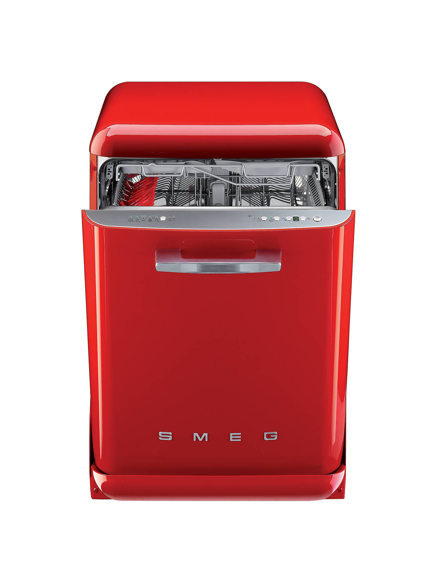 Buy Smeg DF6FABRD Retro Freestanding Dishwasher, Red Online at johnlewis.com