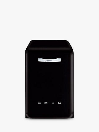 Buy Smeg DF6FABBL Retro Freestanding Dishwasher, Black Online at johnlewis.com