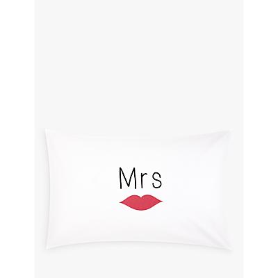 John Lewis Mrs & Mrs Novelty Pillowcases, Pair