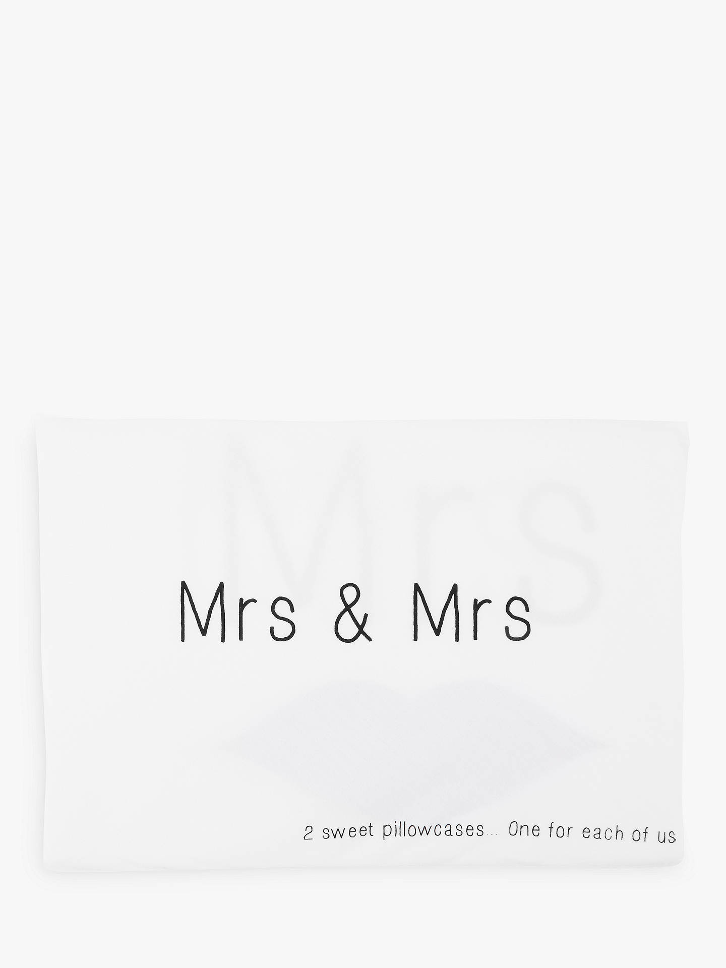 Buy John Lewis & Partners Mrs & Mrs Novelty Pillowcases, Pair Online at johnlewis.com