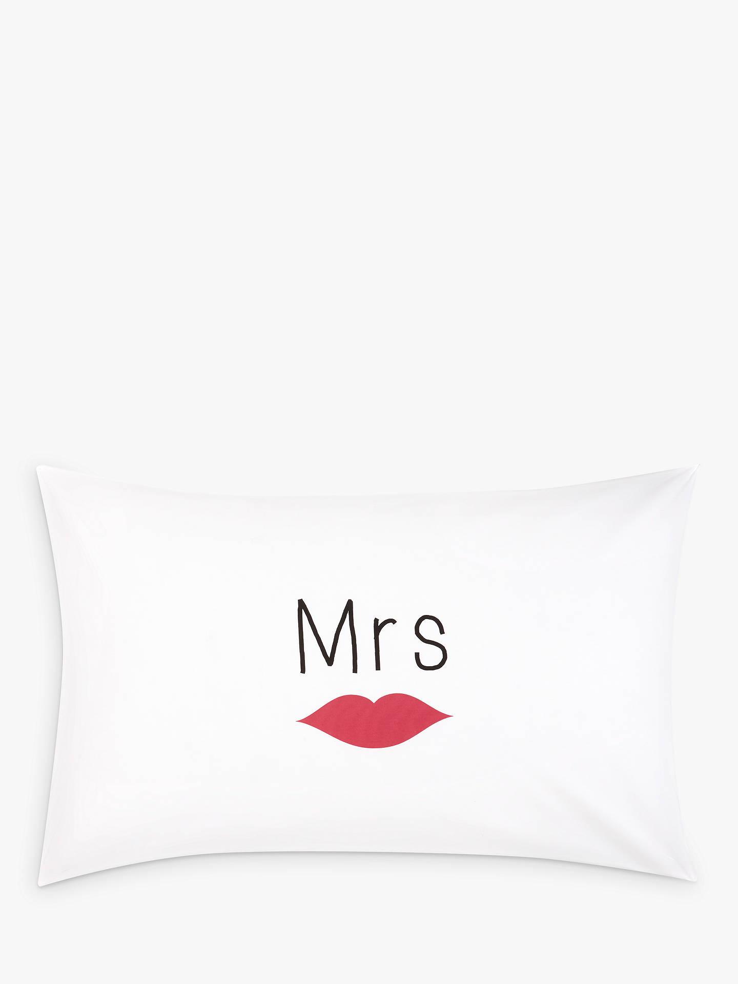 John Lewis & Partners Mr & Mrs Novelty Pillowcases, Pair