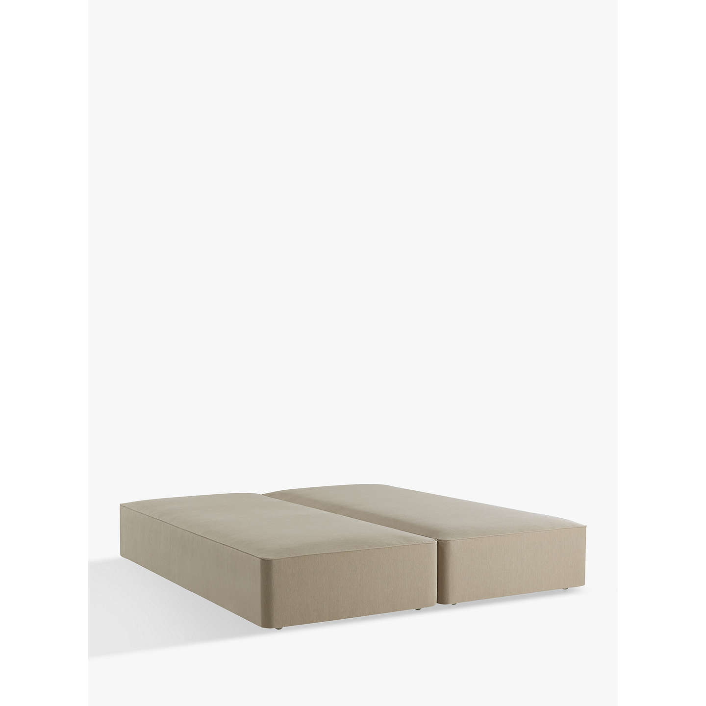 John Lewis Luxury True Edge Divan Base, Pebble Canvas, Super King Size