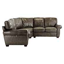 Buy John Lewis Hampstead Leather Corner Unit, High Plain Bronx Online at johnlewis.com