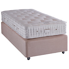 Buy Vispring Heligan Superb Divan Base and Mattress Set, Single, Champagne Online at johnlewis.com