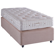 Buy Vispring Hanbury Superb Divan Base and Mattress Set, Single, Champagne Online at johnlewis.com