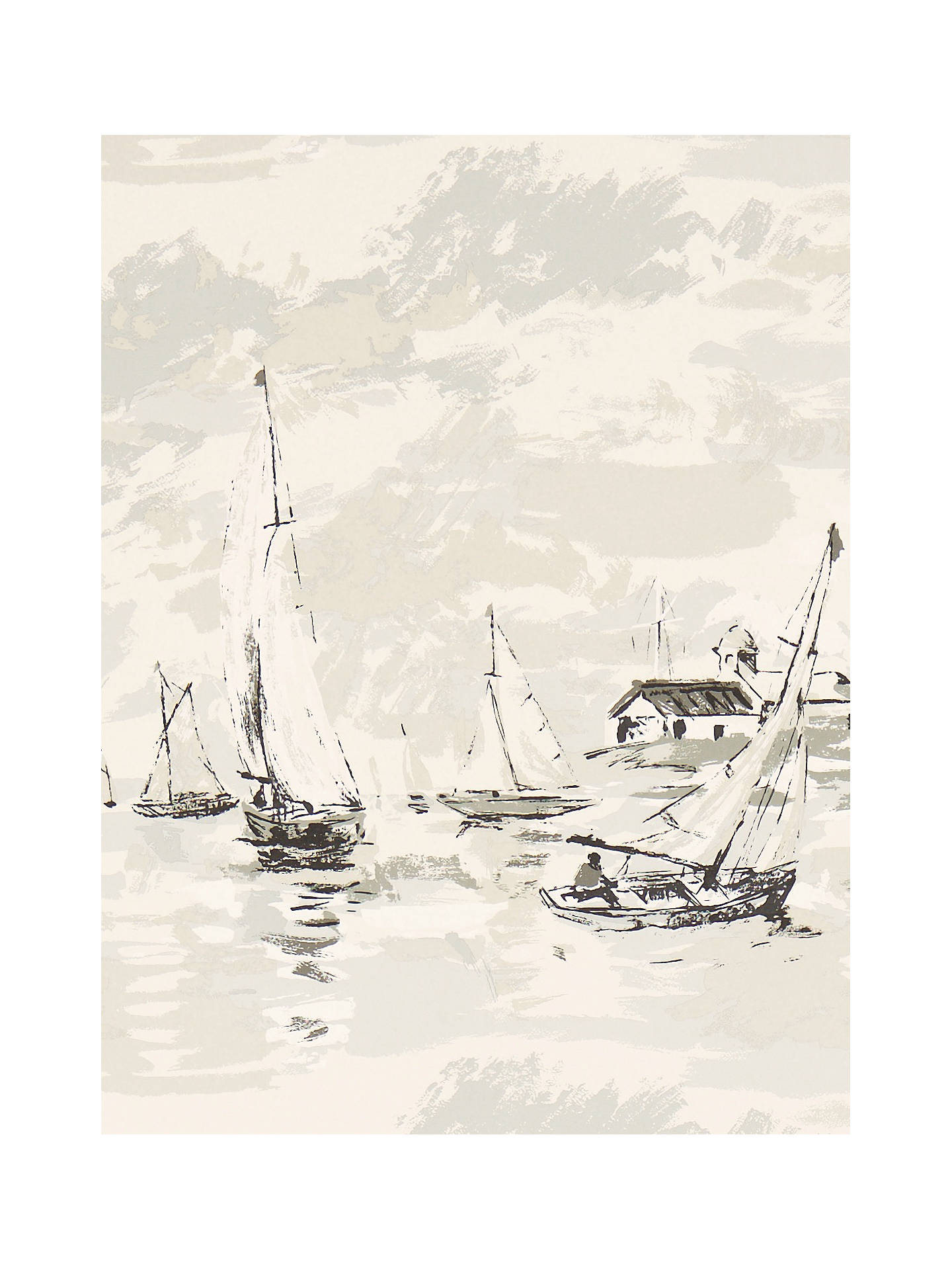 Buy Sanderson Sail Away Wallpaper, Neutral, DVIN214589 Online at johnlewis.com