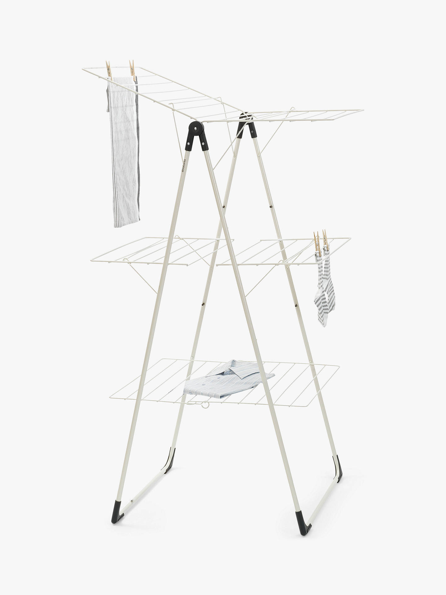 BuyBrabantia Tower Clothes Airer Drying Rack, White Online at johnlewis.com