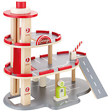 Buy John Lewis 3 Tier Wooden Toy Garage Play Set Online at johnlewis.com