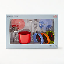 Buy John Lewis Toy Pots And Pans Set Online at johnlewis.com