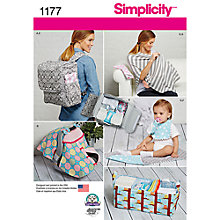 Buy Simplicity Children's Accessories Sewing Pattern, 1177, One Size Online at johnlewis.com